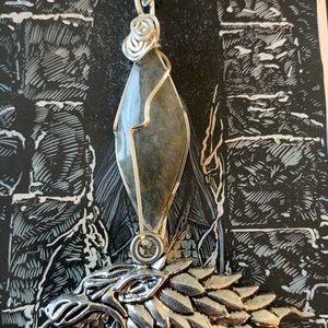 House Stark Labradorite Necklace